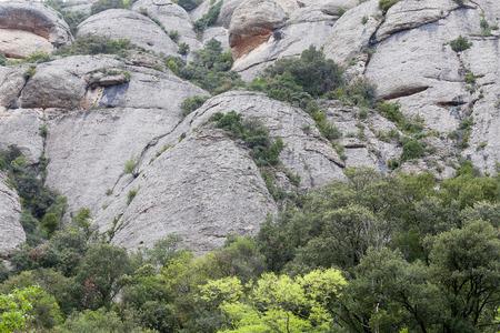 montserrat: Montserrat mountains carved by angels, near abbey Santa Maria de Montserrat , Spain