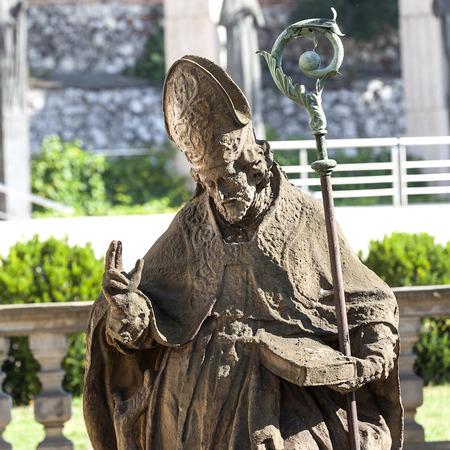 18 century Baroque statue of Bishop St Stanislaus , Church on Skalka, Pauline Fathers Monastery, Krakow, Poland.