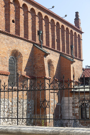 szeroka: Old synagogue in jewish district of Krakow - Kazimierz on Szeroka street , Poland