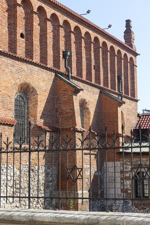 kazimierz: Old synagogue in jewish district of Krakow - Kazimierz on Szeroka street , Poland