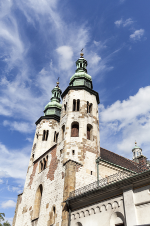 andrew: 11th century Church of St. Andrew on a background of blue sky, Old Town, Krakow, Poland