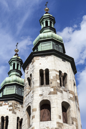11th century: 11th century Church of St. Andrew on a background of blue sky, Old Town, Krakow, Poland
