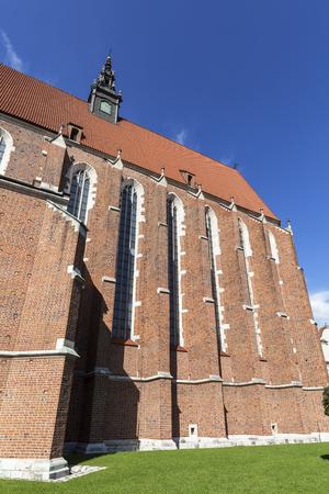 Roman catholic 14th century church,Corpus Christi Basilica in Jewish district Kazimierz, Krakow, Poland