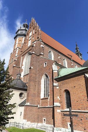 kazimierz: Roman catholic 14th century church,Corpus Christi Basilica in Jewish district Kazimierz, Krakow, Poland