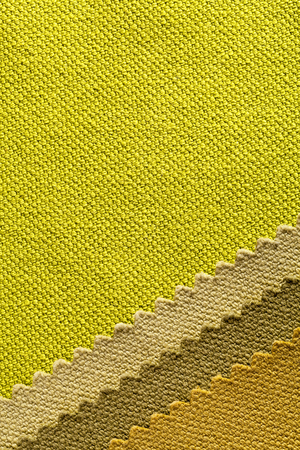entanglement:  Composition of colored stripes of serrated cotton fabric.place for text Stock Photo