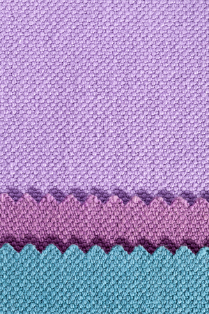splice: Composition of colored stripes of serrated cotton fabric.place for text