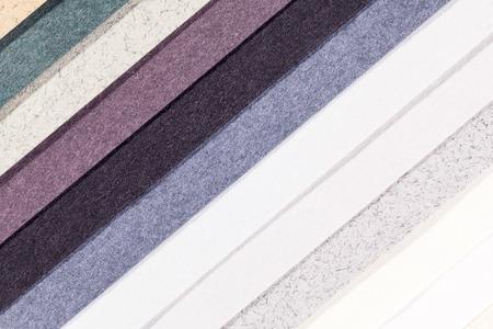 oblique: Background of colorful paper  parallel vertical oblique stripes Stock Photo