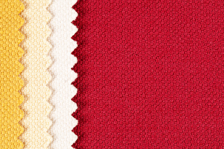 splice: Background, composition of colored stripes of serrated cotton fabric.place for text