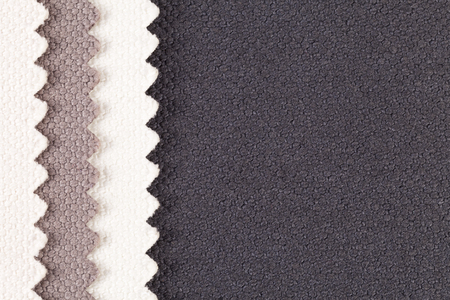 Background, composition of colored vertical, stripes of serrated cotton fabric.place for text