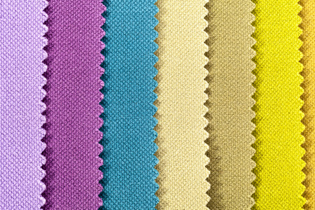 cotton fabric: Background of colorful stripes of cotton fabric, texture