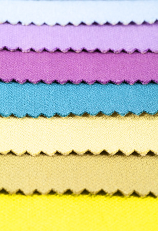 Background of colorful stripes of cotton fabric, texture
