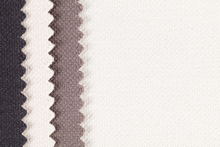 splice: Composition of colored vertical  stripes of serrated cotton fabric., place for text