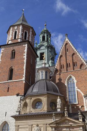Wawel Cathedral - coronation place of Polish kings- on Wawel Hill,  Krakow, Poland.