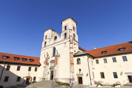 Benedictine abbey in Tyniec near Krakow, Saints Peter and Paul Church, Poland Stock Photo