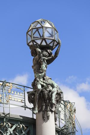 Municipal House, sculpture, Prague, Czech Republic