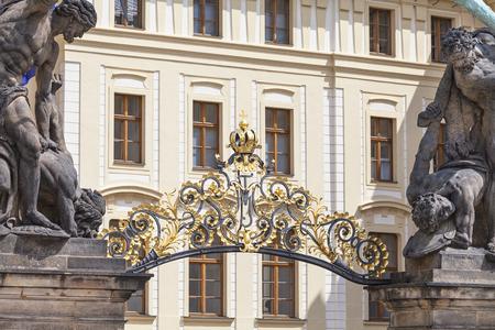Prague Castle ( Hradcany), decorative gate, entrance, Prague, Czech Republic