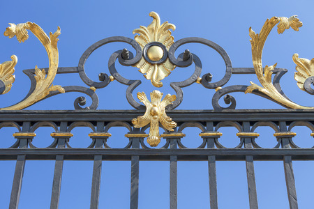 Prague Castle, Hradcany, decorative metal fence, Prague, Czech Republic