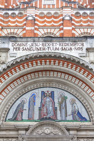Westminster Cathedral, Catholic Church, neo-Byzantine style, London, United Kingdom. It  is the largest Catholic church in England and Wales and the seat of the Archbishop of Westminster.
