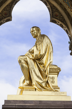 Prince Albert Memorial, Kensington Gardens, London, United Kingdom.  It was commissioned by Queen Victoria in memory of her husband, opened in July 1872