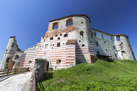 Renaissance castle, defense building,ruins, Lublin Voivodeship, Janowiec ,Poland. In 1975 the object was bought by the Museum of Vistula River and since 1993 it has been gradually renovated