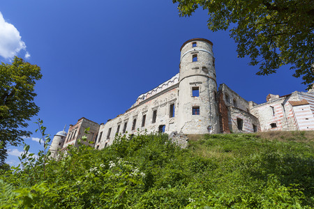 renovated: Renaissance castle, defense building,ruins, Lublin Voivodeship, Janowiec ,Poland. In 1975 the object was bought by the Museum of Vistula River and since 1993 it has been gradually renovated