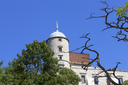 Renaissance castle, defense building,  Lublin Voivodeship, Janowiec ,Poland. In 1975 the object was bought by the Museum of Vistula River and since 1993 it has been gradually renovated
