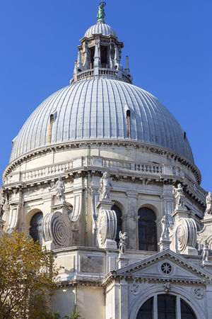 Baroque  church Santa Maria della Salute, Venice, Italy. It was built in the 17th century as a votive thanksgiving after the plague epidemic