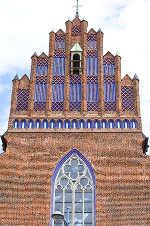 14th century Gothic Church of Corpus Christi, facade, Wroclaw, Poland.
