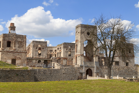 17th century castle  Krzyztopor, italian style palazzo in fortezza, ruins, Ujazd, Poland.  It was built by a Polish nobleman and Voivode of Sandomierz, Krzysztof Ossolinski