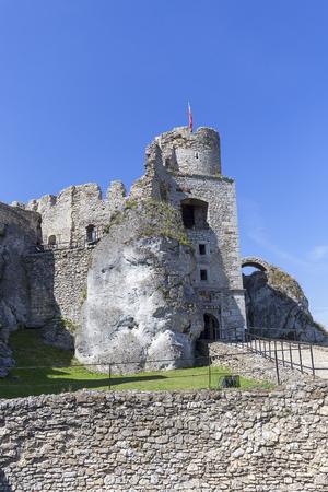 Ruins of medieval castle, Ogrodzieniec Castle, Podzamcze, Poland. Stock Photo