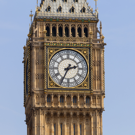 Big Ben, Clock tower of the Palace of Westminster, London, United Kingdom, England. The tower is officially known as Elizabeth Tower, it was known as the Clock Tower.