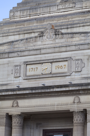 Freemasons Hall in Great Queen Street, facade, London, United Kingdom.