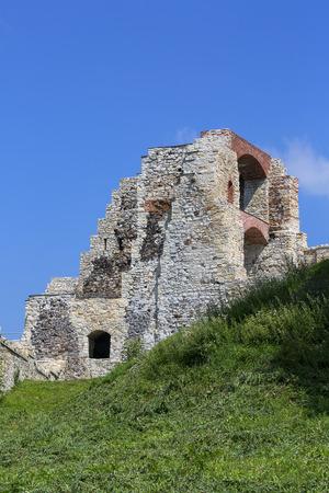 Ruins of 15th century medieval castle, Tenczyn Castle, Polish Jura, near from Krakow Stock Photo
