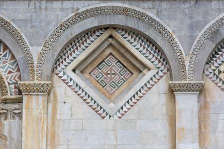 Pisa Cathedral, decorative mosaic on facade, Piazza del Duomo, Pisa, Italy