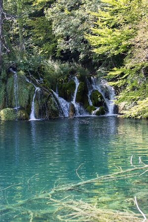 Plitvice Lakes National Park, a miracle of nature, waterfall, Croatia