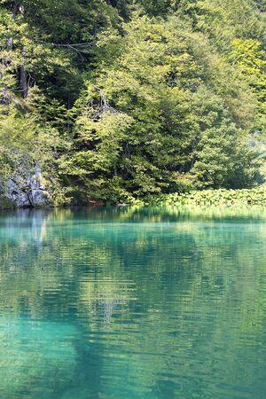 Plitvice Lakes National Park, a miracle of nature, turquoise lake, Croatia