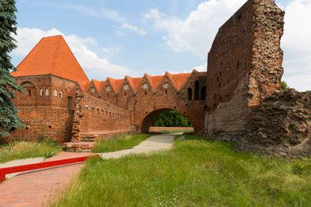 Ruins of the gothic Teutonic 13th century Torun Castle