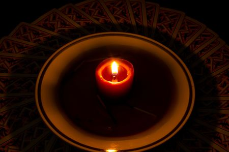 chiromancy: card reading with candle and water