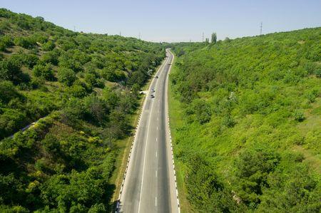 turnpike: ave  's ojos vista en Crimeas Turnpike  Foto de archivo