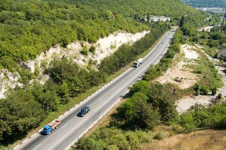 turnpike: vista de p�jaro sobre Crimeas Turnpike