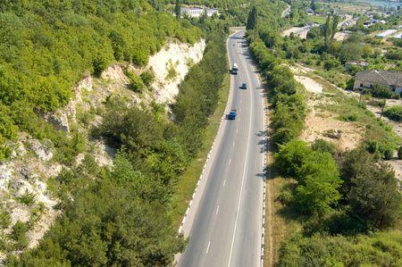 turnpike: miras a sur en Crimeas Turnpike  Foto de archivo