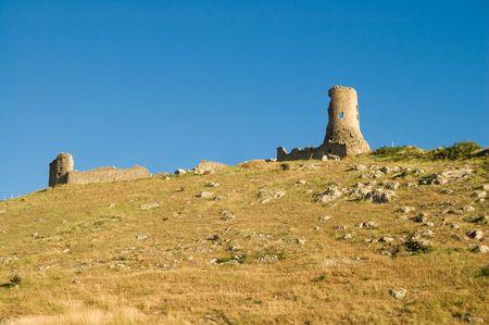 Balaclavas castleon blue sky background photo