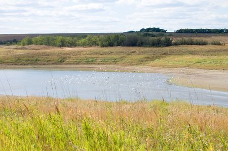 river in steppe Stock Photo - 3529529