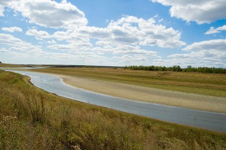 view of steppe river Stock Photo - 3529530