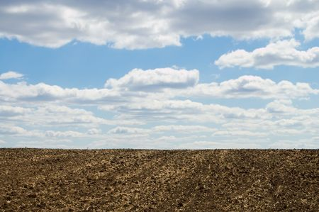 arable: arable soil at autumn Stock Photo