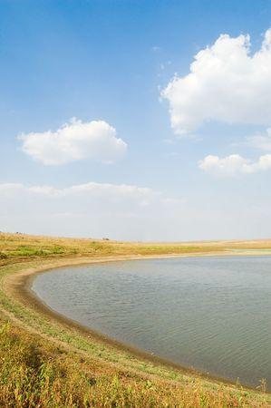lagoon of small lake with cloud on the sky Stock Photo - 3609160