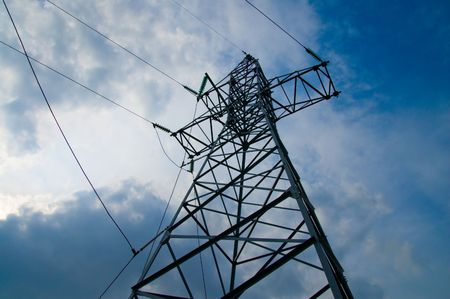 power transmission tower on sky Stock Photo - 3780322