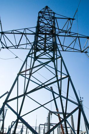 high voltage transmission tower Stock Photo - 3780329