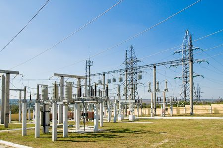 high voltage substation Stock Photo - 3815601
