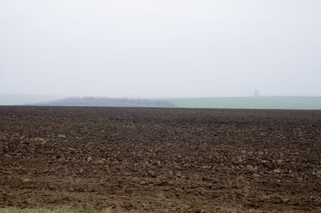 the fallow field is in autumn photo
